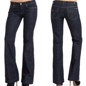 7 For All Mankind Dojo Rhinestone Flare Leg Jeans